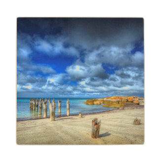 Lillies Beach | Wybalena, Flinders Island Wood Coaster