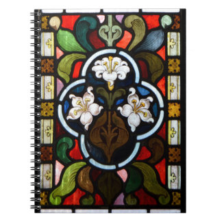Lillies Stained Glass StColumb Minor Cornwall Spiral Notebook
