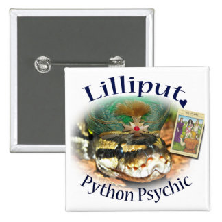 Lilliput Python Psychic with The Lovers Card 15 Cm Square Badge