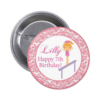 Lilly 7th Birthday Personalized Name Button