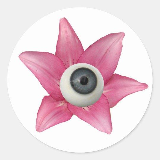 Lilly Eyeball Classic Round Sticker