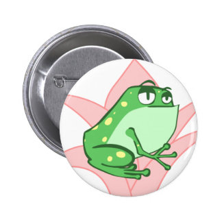 Lilly Frog 6 Cm Round Badge