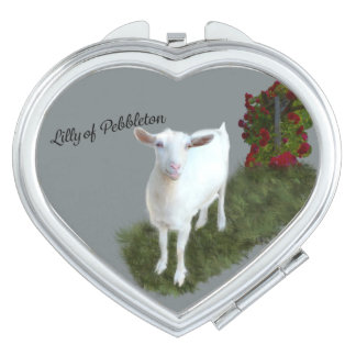 Lilly of Pebbleton; Custom Heart Compact Mirror