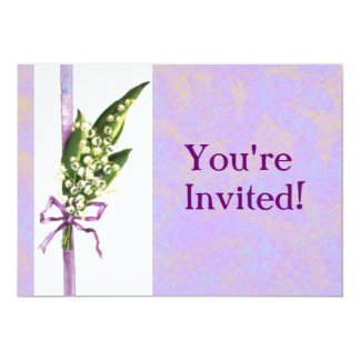 Lilly of the Valley invitation