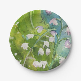 Lilly of the Valley paper plate 7 Inch Paper Plate