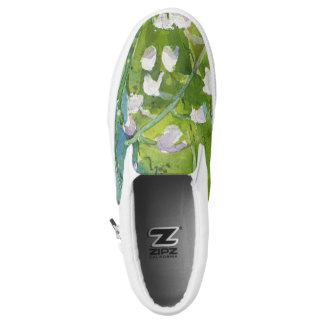 Lilly of the valley watercolor slip on shoes printed shoes