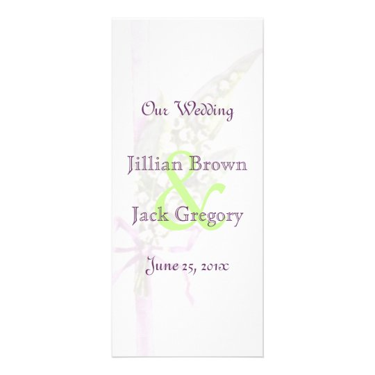 Lilly of the Valley Wedding Program Rack Card