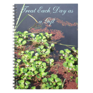 """Lilly Pad with quotes """"Treat each Day as a Gift"""" Journals"""