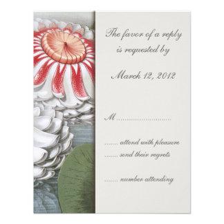 Lilly Pads Wedding Invitation RSVP