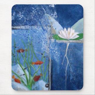 Lilly Pond Original Modern Art Mousepad