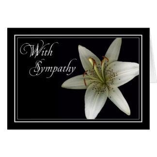 Lilly Sympathy Condolence Car Greeting Cards
