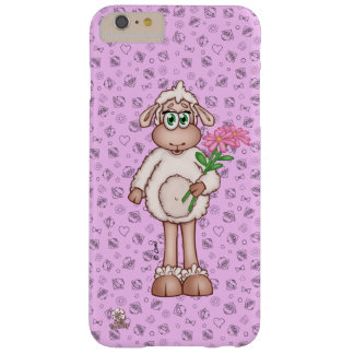 Lilly The Sheep Holding Pink Flower Bouquet Barely There iPhone 6 Plus Case
