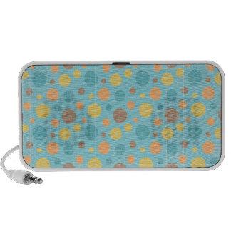 LilMonster FUN DOTS POLKADOTS YELLOW BLUES ORANGE Notebook Speakers