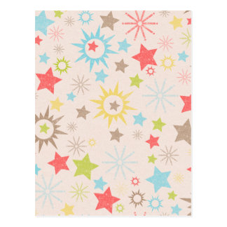 LilMonster FUN STARS SUNS LIME GREEN REDS CREAM NE Post Cards