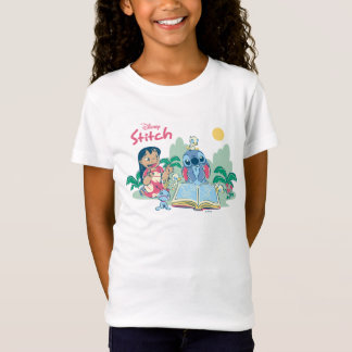 Lilo & Stitch   Reading the Ugly Duckling T-Shirt