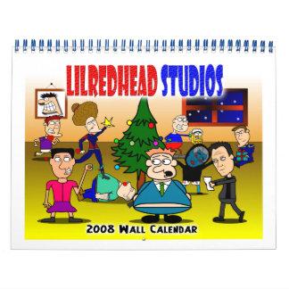 Lilredhead Studios 2008 Wall Calendar