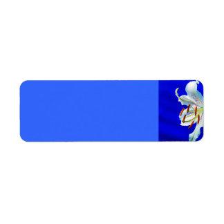 lily-227836  lily flower royal blue background nat return address label