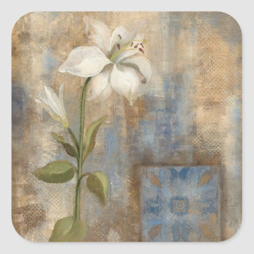 Lily and Tile Sticker