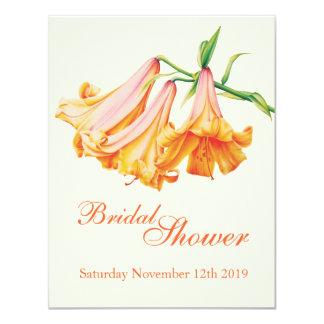 Lily bell fine art bridal shower invite