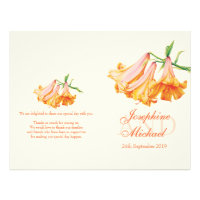 Lily bell Lilies large wedding programme 8.5