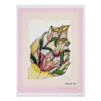 Lily Bouquet Art Poster