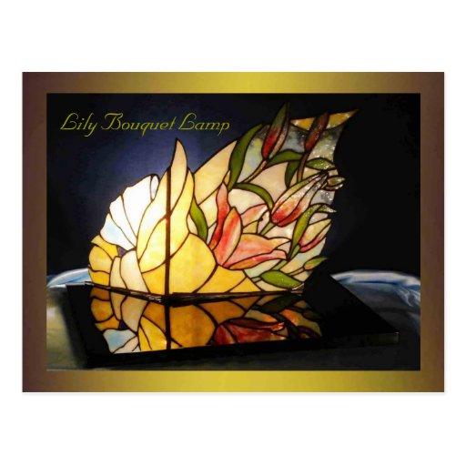 Lily Bouquet Lamp Fine Art Postcard