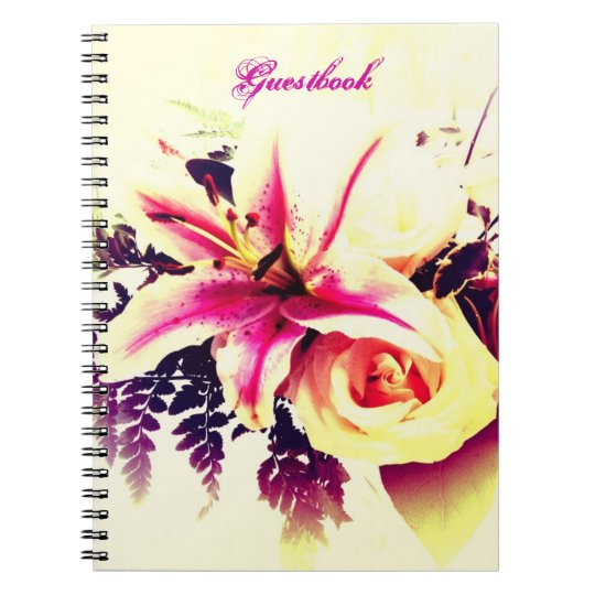 Lily Bouquet - Wedding/ Bridal Shower Guestbook Notebooks