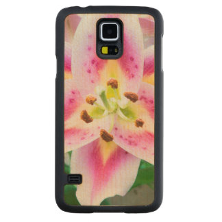 Lily Close-up Carved Maple Galaxy S5 Case