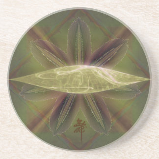 Lily Cocoon Nest Abstract Art Beverage Coasters