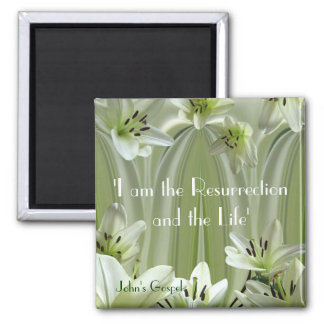 Lily composition fridge magnet