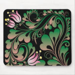 lily decorative design mouse pad