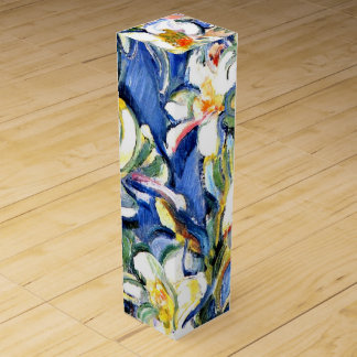Lily, Floral Painting Wine Gift Box