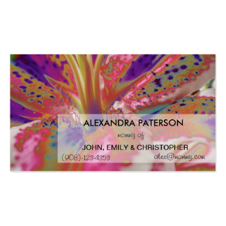 Lily Flower 2 Mommy Business Card