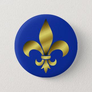 lily flower 6 cm round badge