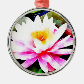 Lily flower christmas ornament