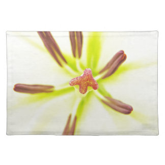 Lily flower close up placemat