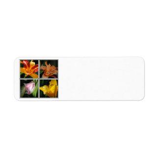 Lily Flower Collage Avery Label Return Address Label