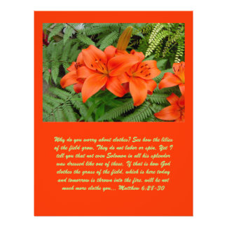 Lily flower - Iridescent orange (Matt 28-30) 21.5 Cm X 28 Cm Flyer