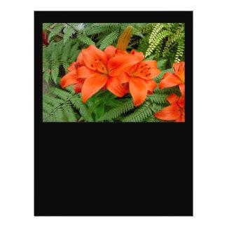 Lily flower - Iridescent orange (Matt 28-30) Flyer