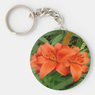 Lily flower - Iridescent orange (Matt 28-30) Keychains