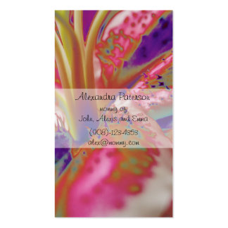 Lily Flower Mommy Business Card