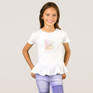 lily flower with dragonflies ruffle shirt