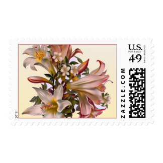 Lily Flowers Postage