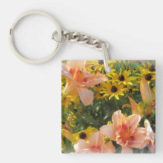 Lily Garden Flower Lover's Key Ring