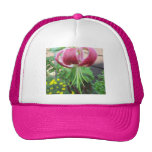 Lily Green Maroon Garden Plant Mesh Hat