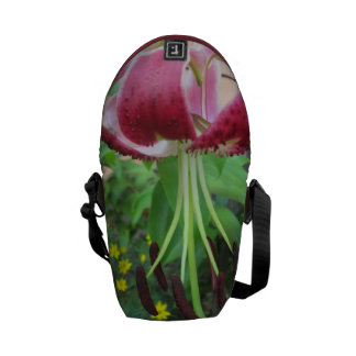 Lily Green Maroon Garden Plant Courier Bag