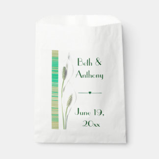 Lily Green & White Wedding Favour Bags