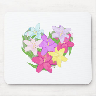 Lily Heart Mouse Pad