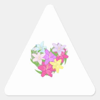 Lily Heart Sticker