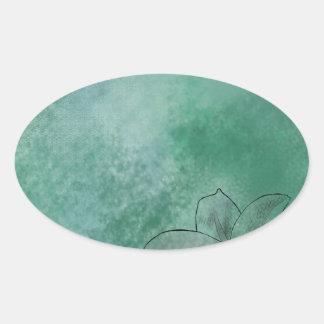 Lily in Blue Oval Sticker